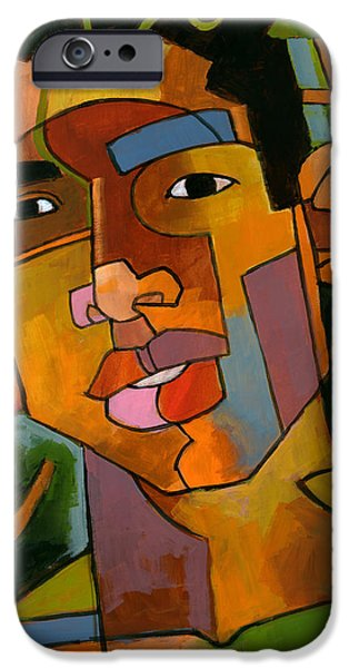 Faces Paintings iPhone Cases - Forest Spirit iPhone Case by Douglas Simonson