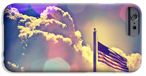 American Flag iPhone Cases - Forever Freedom IV iPhone Case by Aurelio Zucco