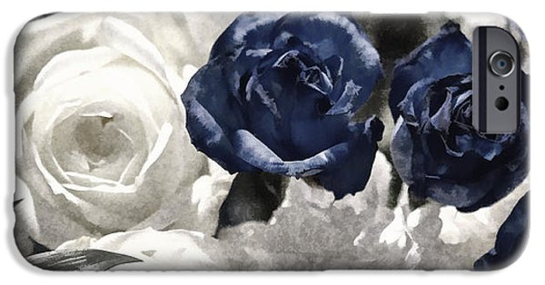 Concept Digital Art iPhone Cases - Forever Roses iPhone Case by Terry Weaver