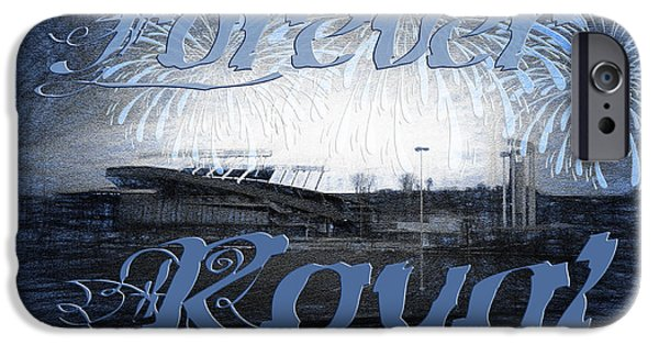 Baseball Stadiums iPhone Cases - Forever Royal iPhone Case by Andee Design