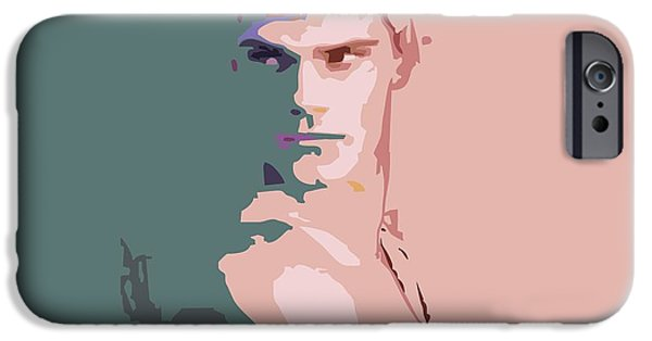 Abstract Digital Art Drawings iPhone Cases - Forever young By Quim Abella iPhone Case by Joaquin Abella