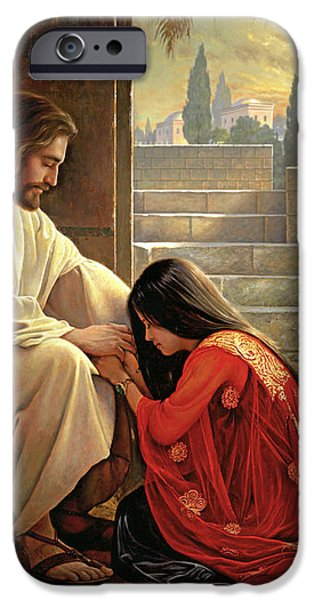 Forgiven iPhone Case by Greg Olsen
