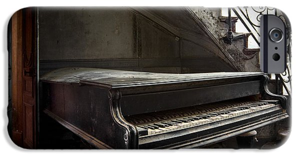 Old Glory iPhone Cases - Forgotten Ancient Piano - Abandoned Building iPhone Case by Dirk Ercken
