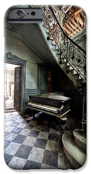 Creepy iPhone Cases - Forgotten Ancient Piano - Urban Exploration iPhone Case by Dirk Ercken