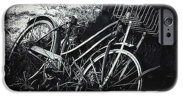 Basket iPhone Cases - Forgotten Bike iPhone Case by Beth Williams