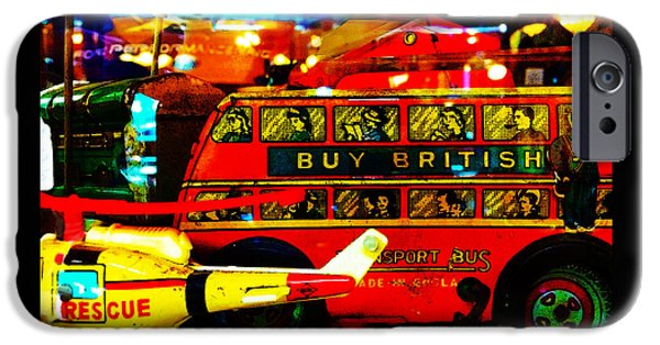 Toy Shop Digital iPhone Cases - Forgotten British Toys iPhone Case by Susan Vineyard