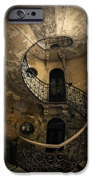 Business Photographs iPhone Cases - Forgotten Staircase iPhone Case by Jaroslaw Blaminsky
