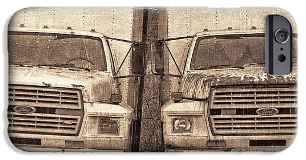 Delivery Truck iPhone Cases - Forgotten Trucks iPhone Case by Jeff  Gettis