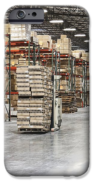 Forklift Moving Product in a Warehouse iPhone Case by Jetta Productions, Inc