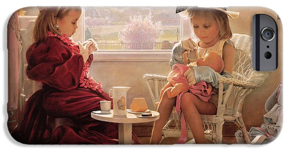 Tea Party iPhone Cases - Formal Luncheon iPhone Case by Greg Olsen