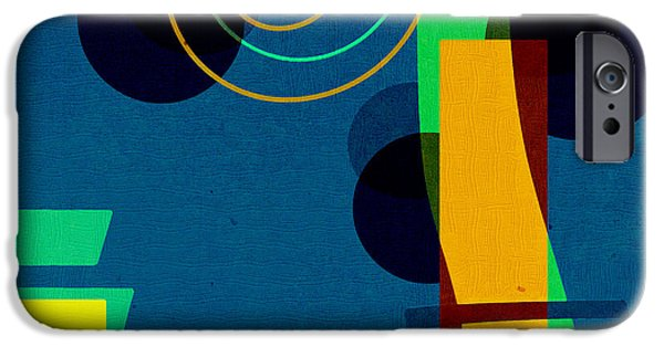 Abstract Digital Digital Art iPhone Cases - Formes - 03b iPhone Case by Variance Collections