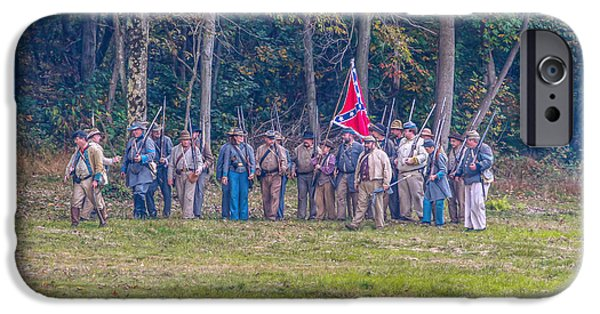 Forming iPhone Cases - Forming Ranks Confederate Soldiers iPhone Case by Randy Steele
