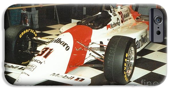 Indy Car Mixed Media iPhone Cases - Formula iPhone Case by Frederick Holiday