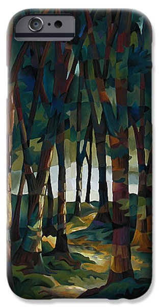 Mosaic Pastels iPhone Cases - Forrest for the Trees iPhone Case by Marilyn Callahan