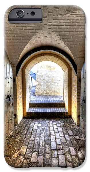 Battery iPhone Cases - Fort Moultrie Bunker Doors iPhone Case by Dustin K Ryan