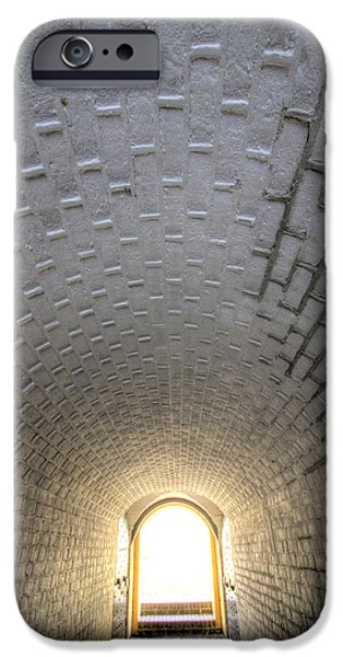 Fort iPhone Cases - Fort Moultrie Bunker Tunnel iPhone Case by Dustin K Ryan