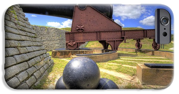 Fort iPhone Cases - Fort Moultrie Cannon Balls iPhone Case by Dustin K Ryan
