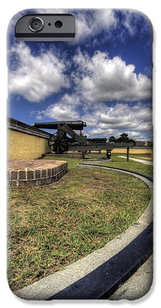Fort iPhone Cases - Fort Moultrie Cannon Rails iPhone Case by Dustin K Ryan