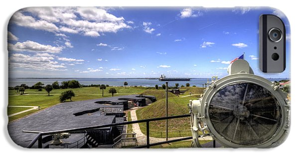 Fort iPhone Cases - Fort Moultrie Signal Light iPhone Case by Dustin K Ryan