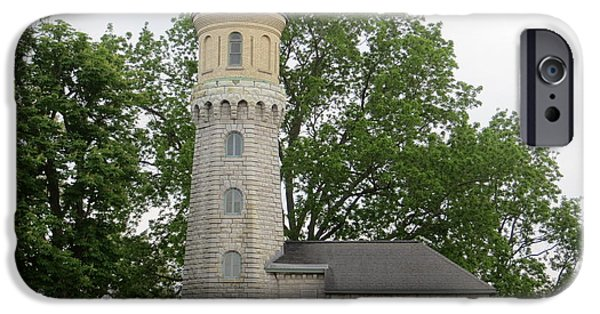 Historic Site iPhone Cases - Fort Niagara Lighthouse 2 iPhone Case by Cindy Kellogg