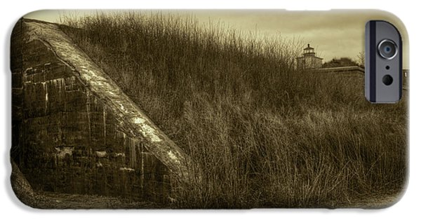 Brown Toned Art iPhone Cases - Fort Taber No. 1 iPhone Case by David Gordon