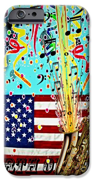 Old Glory iPhone Cases - Forth Of July iPhone Case by Nick Eagles