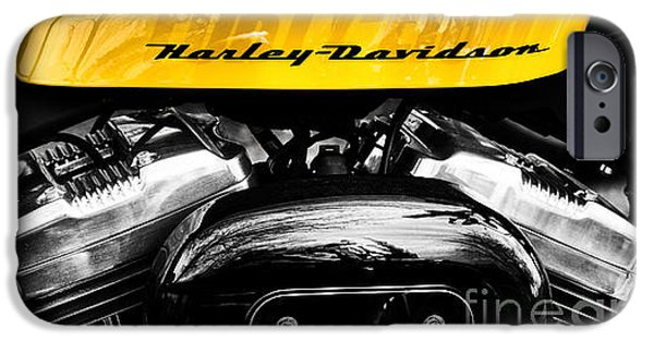 Evolution iPhone Cases - Forty Eight Harley Davidson iPhone Case by Tim Gainey
