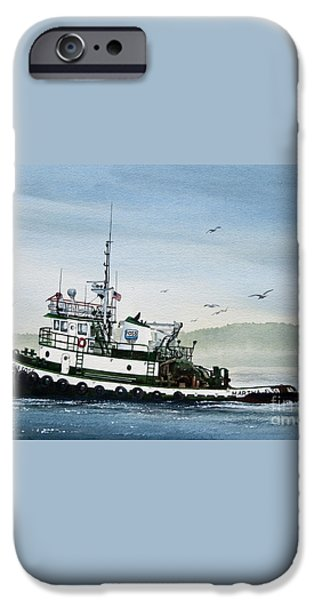 FOSS Tugboat MARTHA FOSS iPhone Case by James Williamson