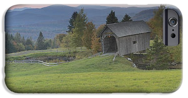 Covered Bridge iPhone Cases - Fosters Covered Bridge iPhone Case by Richard Eyre
