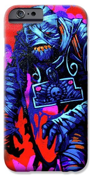 Altered iPhone Cases - Found Graffiti 25 Mummy iPhone Case by Jera Sky