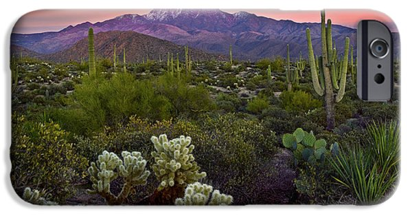 Best Sellers -  - Dave iPhone Cases - Four Peaks Sunset iPhone Case by Dave Dilli