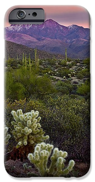 Four Peaks Sunset iPhone Case by Dave Dilli