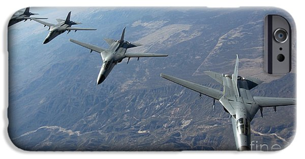 Electronic iPhone Cases - Four Royal Australian Air Force F-111 iPhone Case by Stocktrek Images