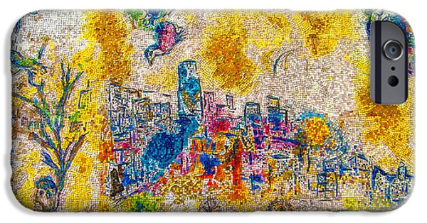 Mosaic iPhone Cases - Four Seasons Chagall iPhone Case by Kyle Hanson
