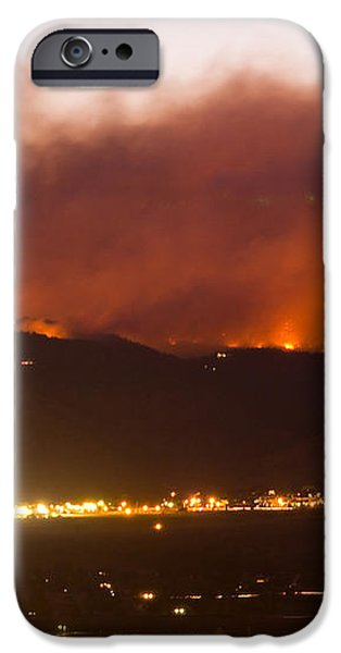 Fourmile Canyon Fire Burning Above North Boulder iPhone Case by James BO  Insogna