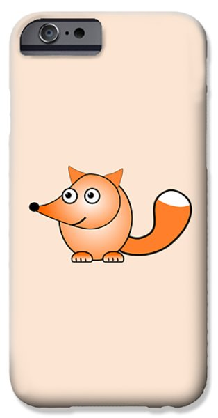 Small iPhone Cases - Fox - Animals - Art for Kids iPhone Case by Anastasiya Malakhova
