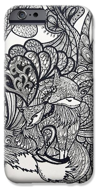Design iPhone Cases - Fox lover iPhone Case by Venie Tee