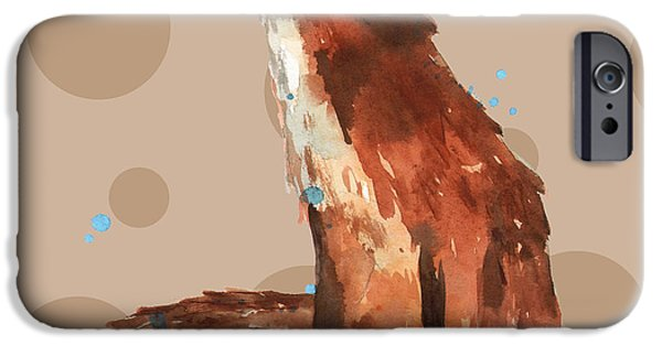 Fox Paintings iPhone Cases - Fox Painting iPhone Case by Alison Fennell