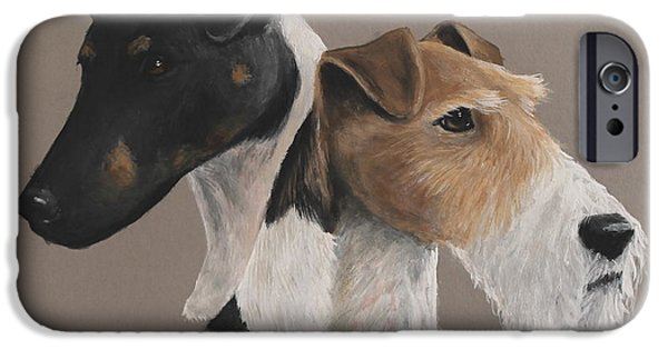 Fox Terrier iPhone Cases - Fox terrier iPhone Case by Daniele Trottier