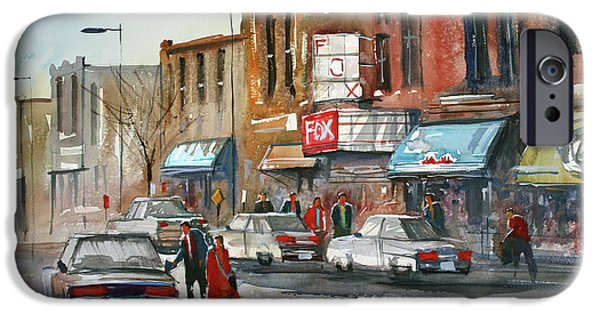 Wisconsin Paintings iPhone Cases - Fox Theater - Stevens Point iPhone Case by Ryan Radke