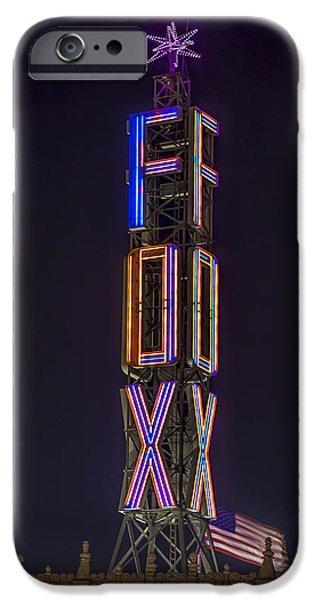 Fox Digital iPhone Cases - Fox Theatre Detroit iPhone Case by Nicholas  Grunas