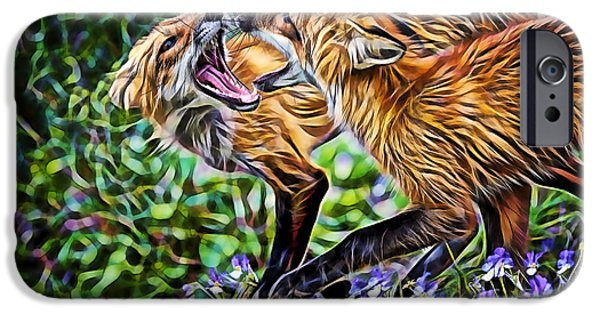 Fox iPhone Cases - FoxTrot iPhone Case by Marvin Blaine