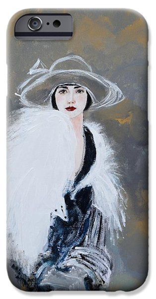 Scarves iPhone Cases - Foxy Lady iPhone Case by Susan Adams