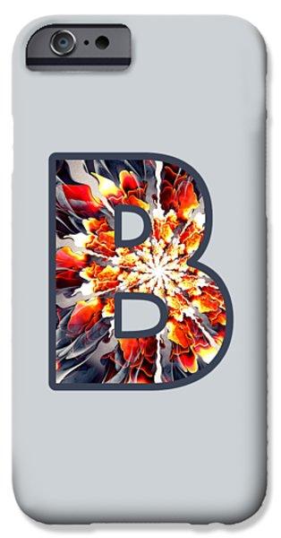 Diy iPhone Cases - Fractal - Alphabet - B is for Beauty iPhone Case by Anastasiya Malakhova