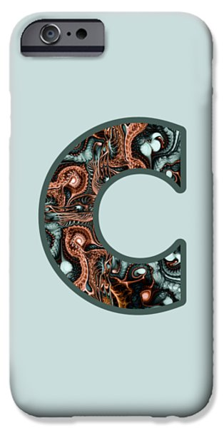 Diy iPhone Cases - Fractal - Alphabet - C is for Complexity iPhone Case by Anastasiya Malakhova