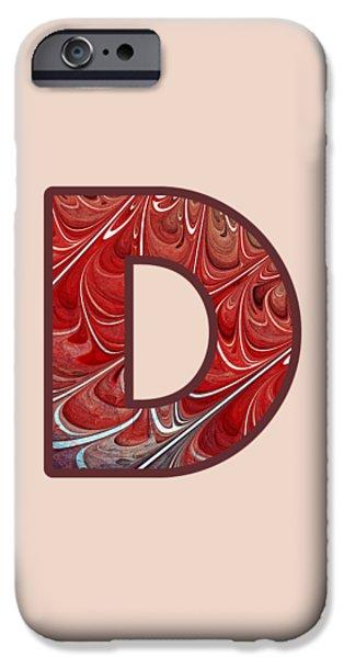 Diy iPhone Cases - Fractal - Alphabet - D is for Digital iPhone Case by Anastasiya Malakhova
