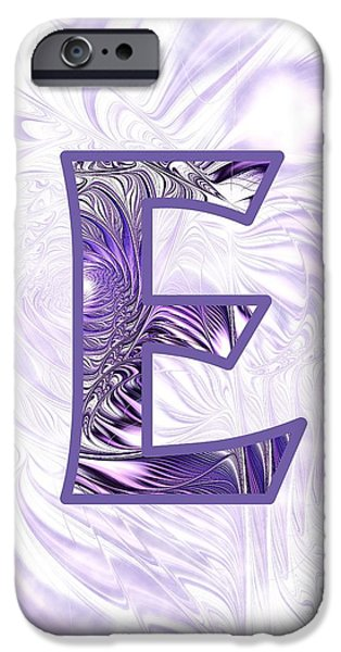 Abstracts iPhone Cases - Fractal - Alphabet - E is for Elegance iPhone Case by Anastasiya Malakhova