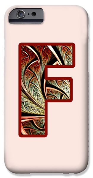 Diy iPhone Cases - Fractal - Alphabet - F is for Fractal Creations iPhone Case by Anastasiya Malakhova