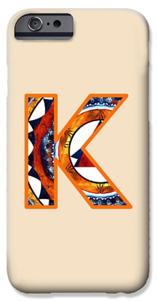 Diy iPhone Cases - Fractal - Alphabet - K is for Kaleidoscope iPhone Case by Anastasiya Malakhova