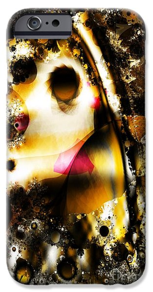 Aperture iPhone Cases - Fractal Apertures iPhone Case by Ron Bissett